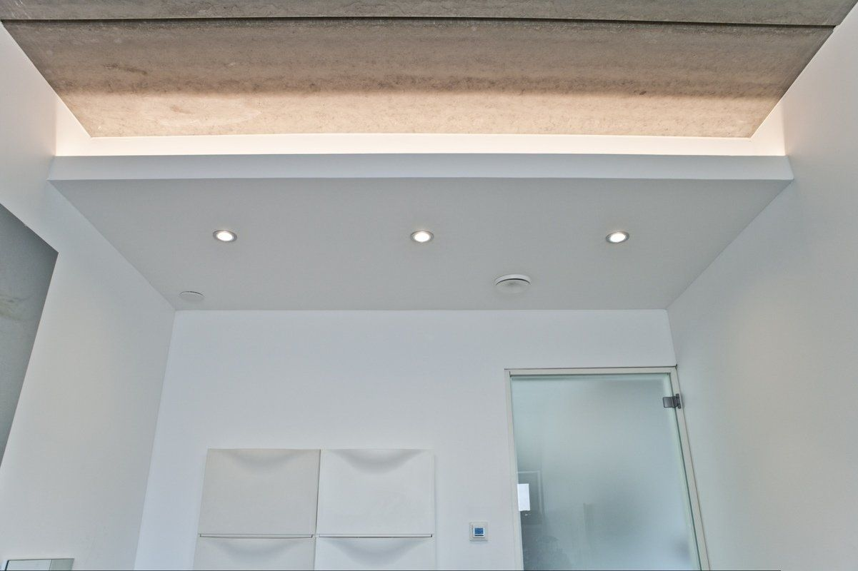 LED strip and downlights